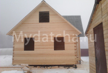 Фасад дома з бруа 6х9
