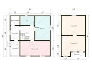 Дом из бруса 8х8 (Д17)