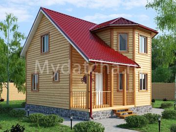 Дом из бруса 7х7 (Д5)