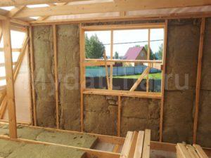 Утепляем стены мансарды в 150 мм. утеплителем Rockwool