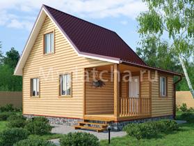 Дом из бруса 6х8 (Д6)