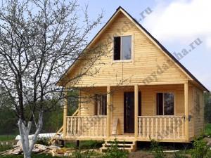 Дом из бруса 6х6 с террасой